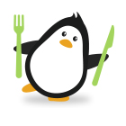 healthy eating penguin