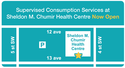 calgary supervised consumption site map