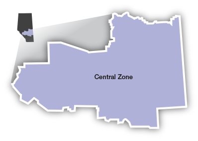 Central Zone map