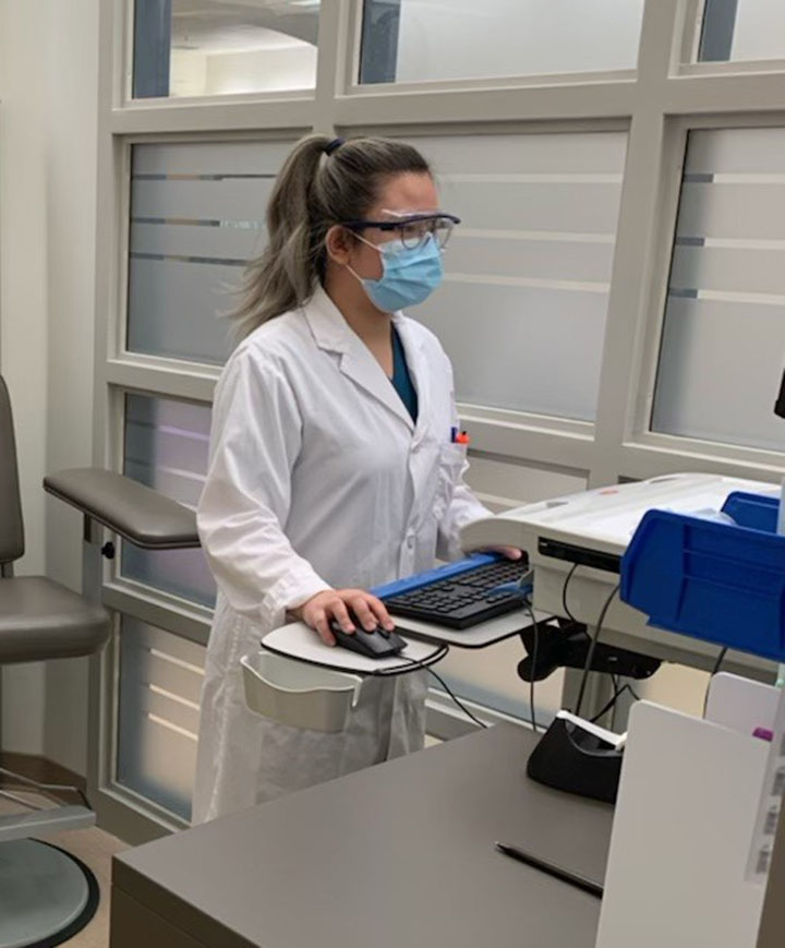 Cross Cancer Institute Lab Assistant, Cynthia Calo