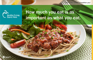 How much you eat is as important as what you eat