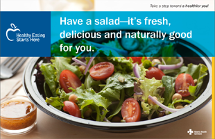 Have a salad - it's delicious and naturally good for you