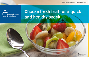 Choose fresh fruit for a quick and healthy snack