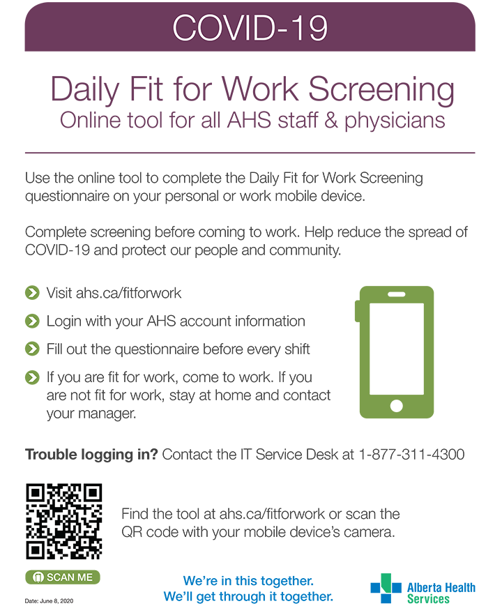 Fit for Work Screening Online Screening Tool