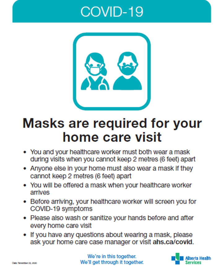 Information for Home Care Clients About Continuous Mask Use
