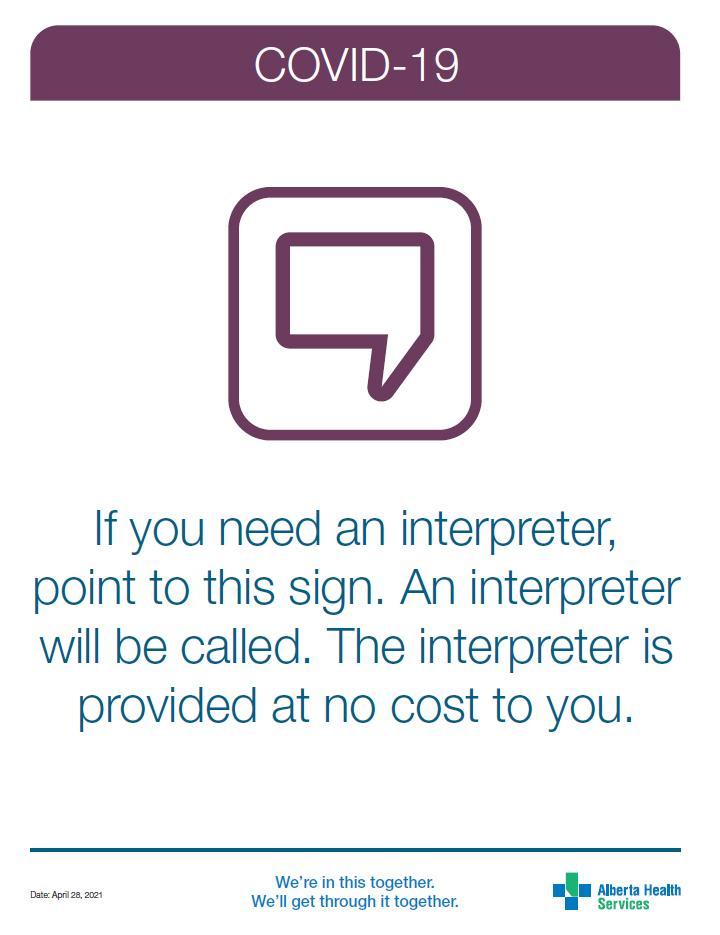 Need an interpreter