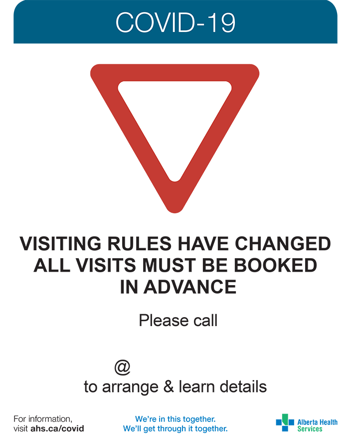Visiting restrictions have changed posters