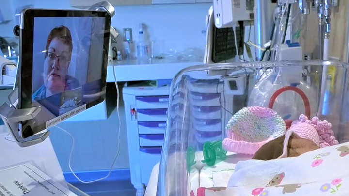 Technology brings moms closer to ill newborns