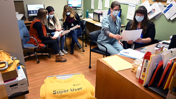 Super users at Leduc Community Hospital prepare for the Wave 2 launch of Connect Care. Super users receive extra training on the Connect Care system so they can provide support to their colleagues in the early days after a launch.