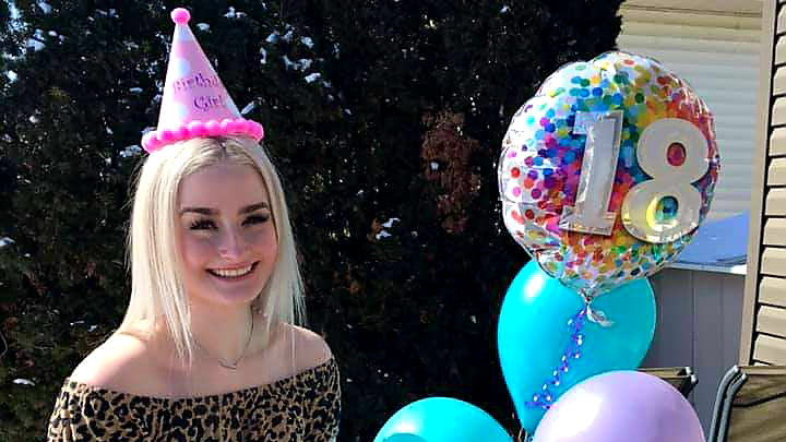 "Ilana Anderson's family surprised her with an 18th birthday celebration at their home in St. Albert. ""It was low-key — but awesome,"" she says."