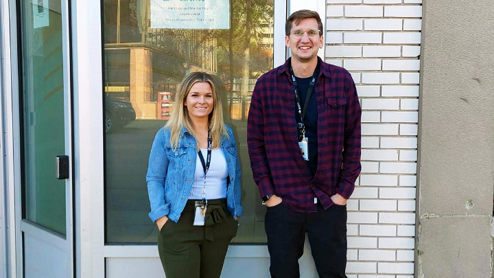 As members of the Mobile Outreach Team with the Opioid Dependency Clinic in Edmonton, Social Worker Shayne Vars, left, and Registered Nurse Todd Cassios take to the Edmonton streets every week, meeting people who use opioids, to help them get the care and support they need. Aug. 31 is International Overdose Awareness Day – a day acknowledged around the world through community events, memorials, and campaigns aimed at reducing the stigma of drug-related deaths, increasing knowledge about overdose prevention, and remembering friends and loved ones who have been lost to drug overdose.
