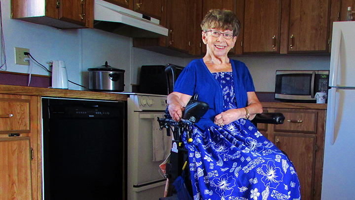 """One senior who's eating healthier thanks to Red Deer's malnutrition initiative is Linda Kitchen. """"I learned a lot from the resources in this project,"""" she says. """"For example, I started adding milk to my soup for extra calcium. I'm also trying new ways to get more protein."""""""