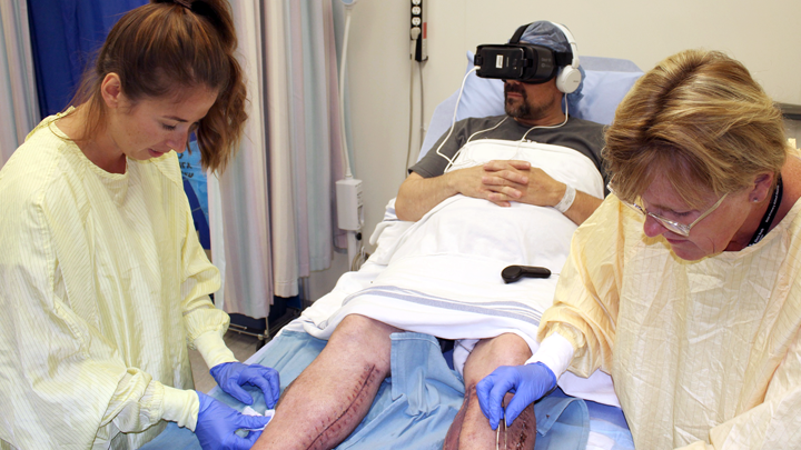 Virtual reality eases pain for wound-care patients